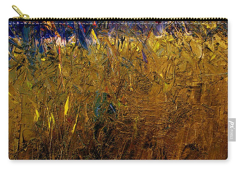 Abstract Carry-all Pouch featuring the painting Blades Of Grass by Ruth Palmer