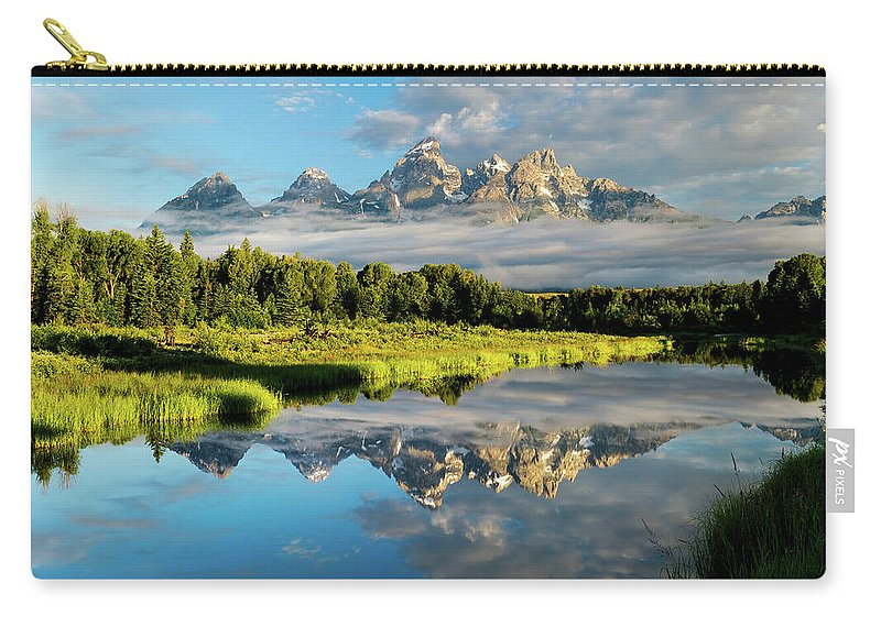 Grand Teton Carry-all Pouch featuring the photograph Blame It On The Tetons by Matt Shiffler