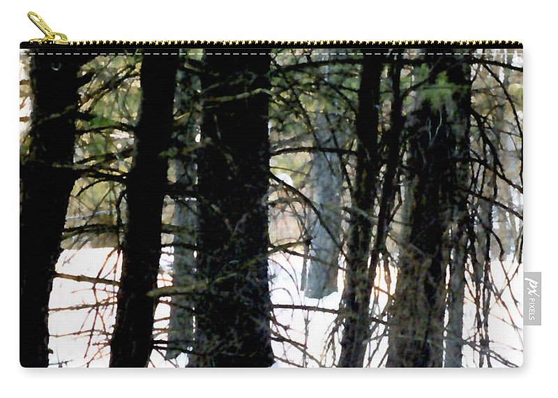 Snow Carry-all Pouch featuring the painting Blanketed In Snow by Paul Sachtleben