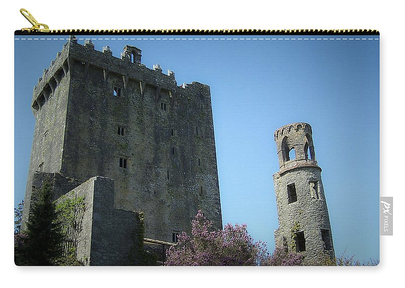 Irish Carry-all Pouch featuring the photograph Blarney Castle And Tower County Cork Ireland by Teresa Mucha
