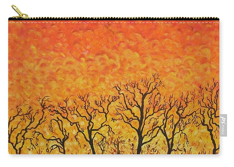 Fire Carry-all Pouch featuring the painting Blaze by Caroline Street