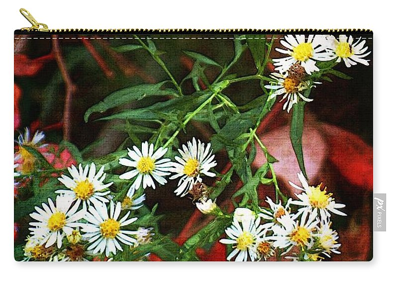 Asters Carry-all Pouch featuring the painting Blazing In Scarlet Battalions by RC deWinter