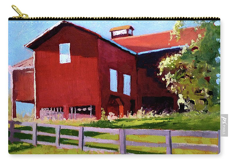 Barn Carry-all Pouch featuring the painting Bleak House Barn No. 3 by Catherine Twomey