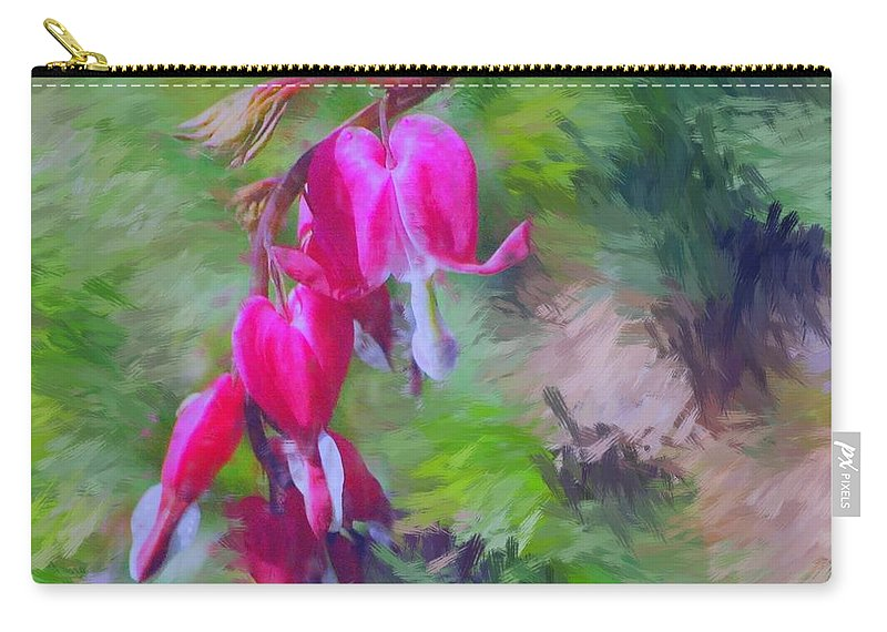 Daffodil Carry-all Pouch featuring the photograph Bleeding Heart by David Lane