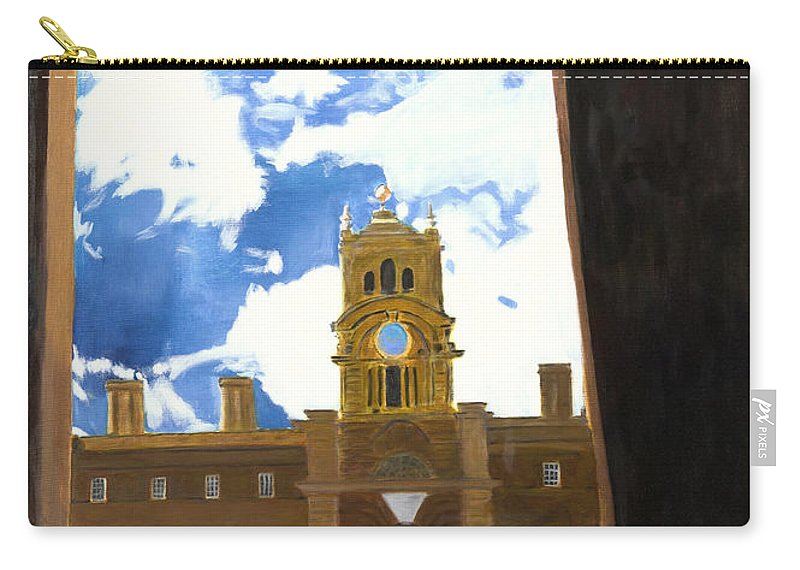 Churchill Carry-all Pouch featuring the painting Blenheim Palace England by Avi Lehrer
