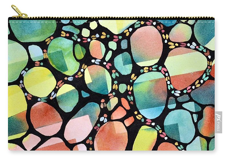 Inspiration Carry-all Pouch featuring the painting Blind Faith by Pamela Lee