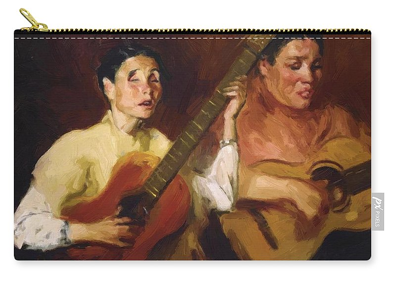 Blind Carry-all Pouch featuring the painting Blind Singers 1912 by Henri Robert