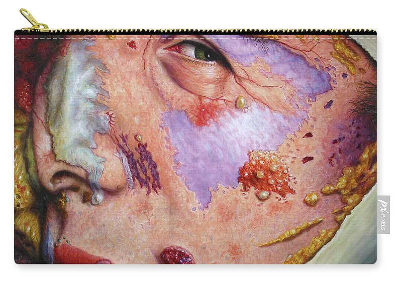 Gross Carry-all Pouch featuring the painting Blindsided by James W Johnson