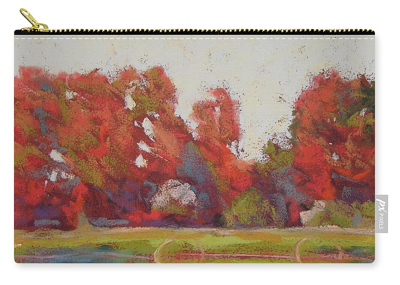 Landscape Carry-all Pouch featuring the painting Bliss Evening by Mary McInnis