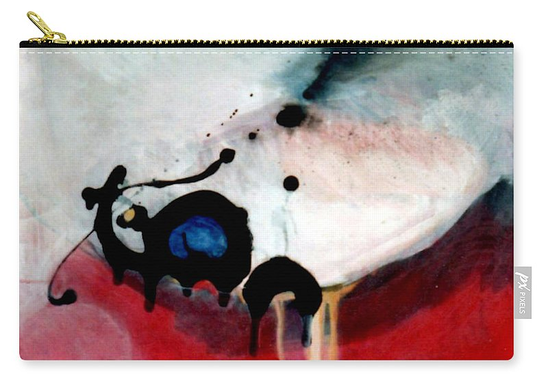 Primary Colors Carry-all Pouch featuring the painting blobs Leap frog by Marlene Burns