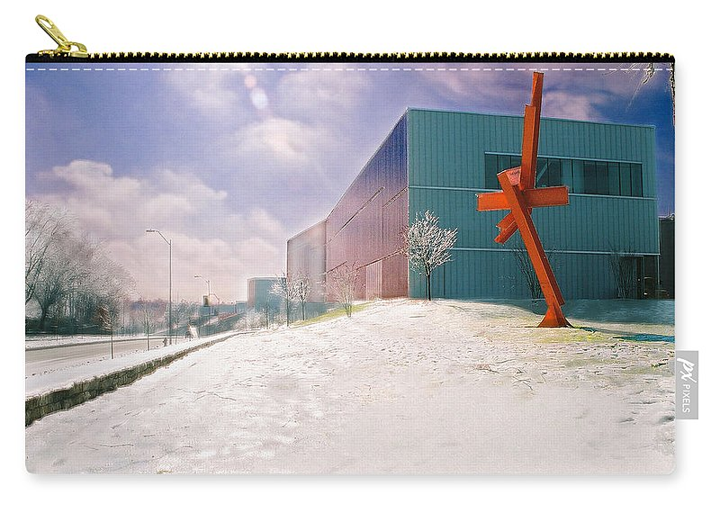 Landscape Carry-all Pouch featuring the photograph Bloch Building At The Nelson Atkins Museum by Steve Karol