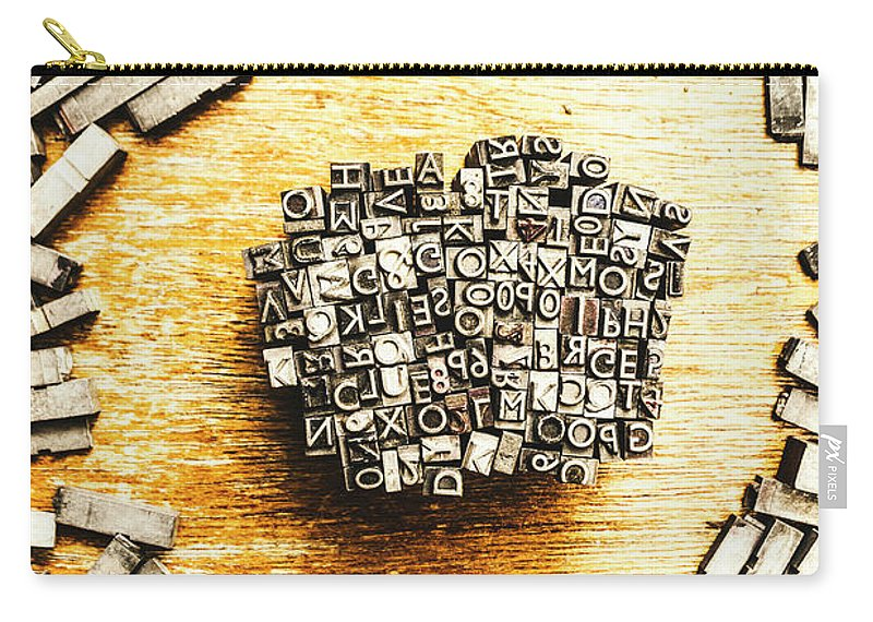 Old Carry-all Pouch featuring the photograph Block Of Communication by Jorgo Photography - Wall Art Gallery