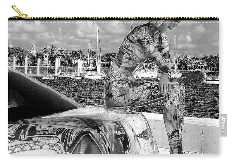 Blonde Carry-all Pouch featuring the photograph Blonde Thinker by Lisa Renee Ludlum