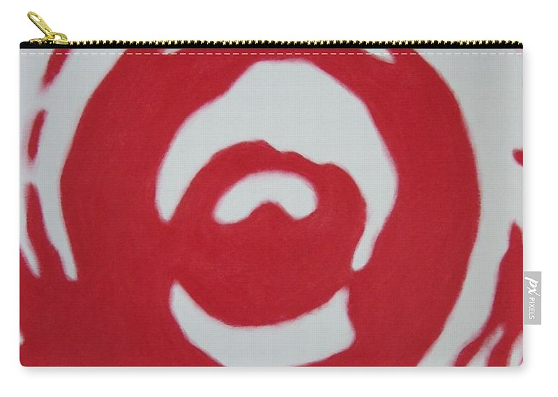 Abstract Carry-all Pouch featuring the painting Blood And Tears by Lynet McDonald