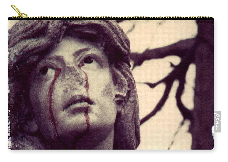 Polaroid Carry-all Pouch featuring the photograph Blood Is The New Black by Jane Linders