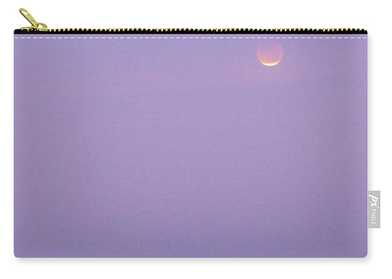 Astronomy Carry-all Pouch featuring the photograph Blood Moon Over Galveston Texas by Katrina Lau