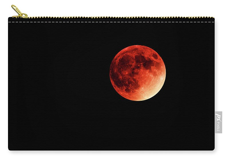 Moon Carry-all Pouch featuring the digital art Blood Moon by William Bader