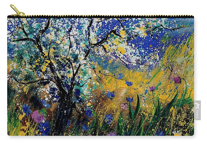 Spring Carry-all Pouch featuring the painting Blooming Appletree by Pol Ledent