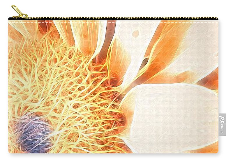 Sunflower Carry-all Pouch featuring the photograph Bloomlit by Kathleen Messmer