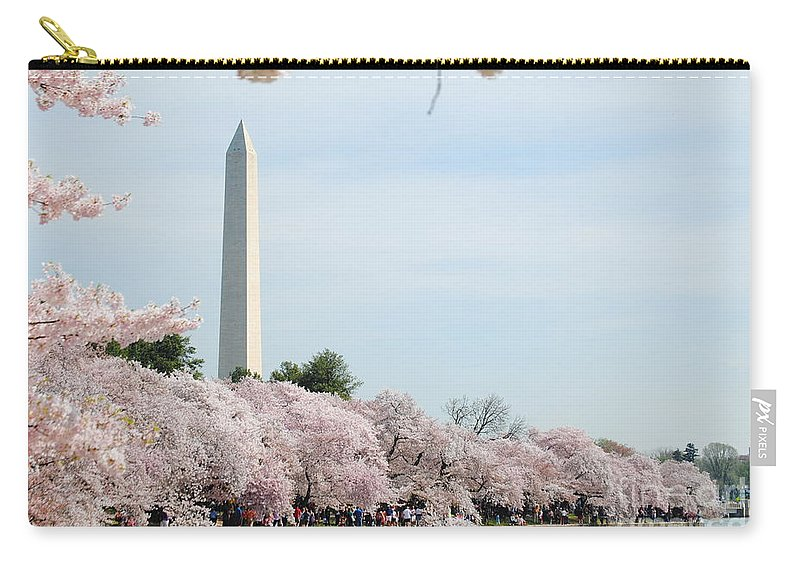 Cherry Carry-all Pouch featuring the photograph Blooms Of The Tidal Basin by Jost Houk