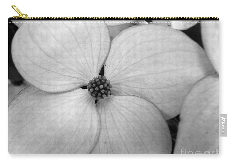 Blossom Carry-all Pouch featuring the photograph Blossom In Black And White by Tara Turner