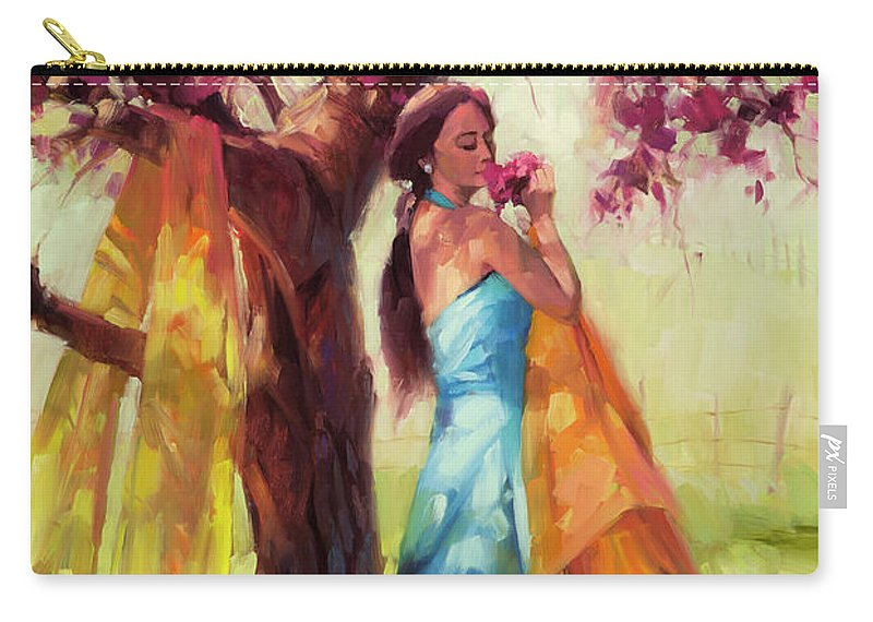 Country Carry-all Pouch featuring the painting Blossom by Steve Henderson
