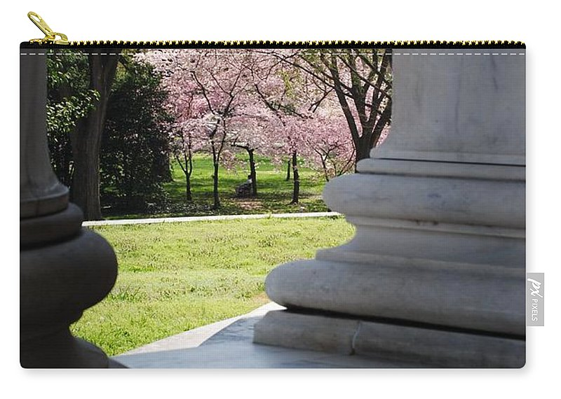Cherry Carry-all Pouch featuring the photograph Blossoms Of The Columns by Jost Houk