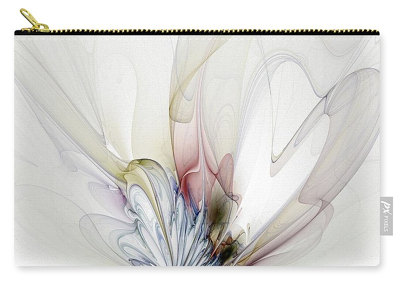 Digital Art Carry-all Pouch featuring the digital art Blow Away by Amanda Moore