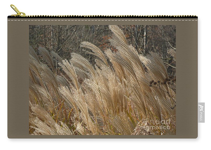 Weeds Carry-all Pouch featuring the photograph Blowin In The Wind by Barb Montanye Meseroll