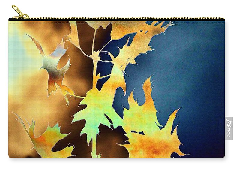 Leaves Carry-all Pouch featuring the digital art Blowin In The Wind II by Tim Allen