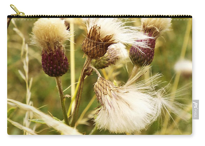 Thistle Carry-all Pouch featuring the photograph Blowing Away by Judi Saunders