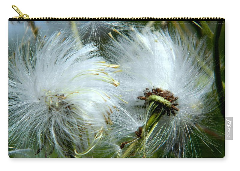 Wildflowers Carry-all Pouch featuring the photograph Blowing In The Wind by Arlane Crump
