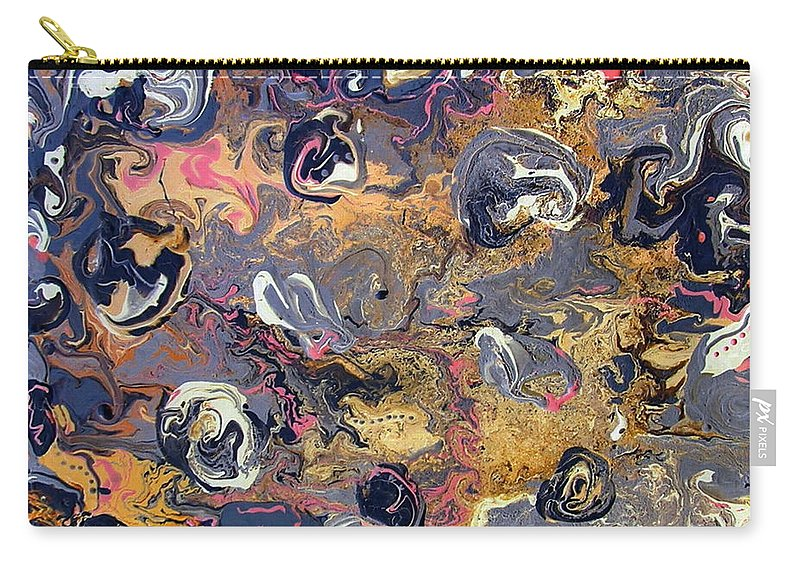 Blowing Winds Carry-all Pouch featuring the painting Blowing Winds by Dawn Hough Sebaugh