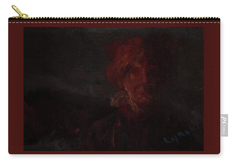 Portrait Carry-all Pouch featuring the painting Blown by Lynne Guess