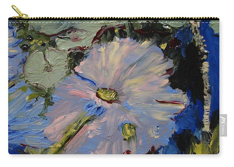 Water Carry-all Pouch featuring the painting Blu II by Barbara Andolsek