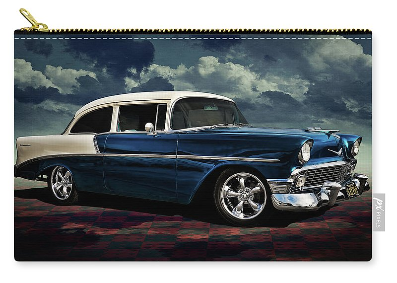 Vintage Carry-all Pouch featuring the digital art Blue '56 by Douglas Pittman