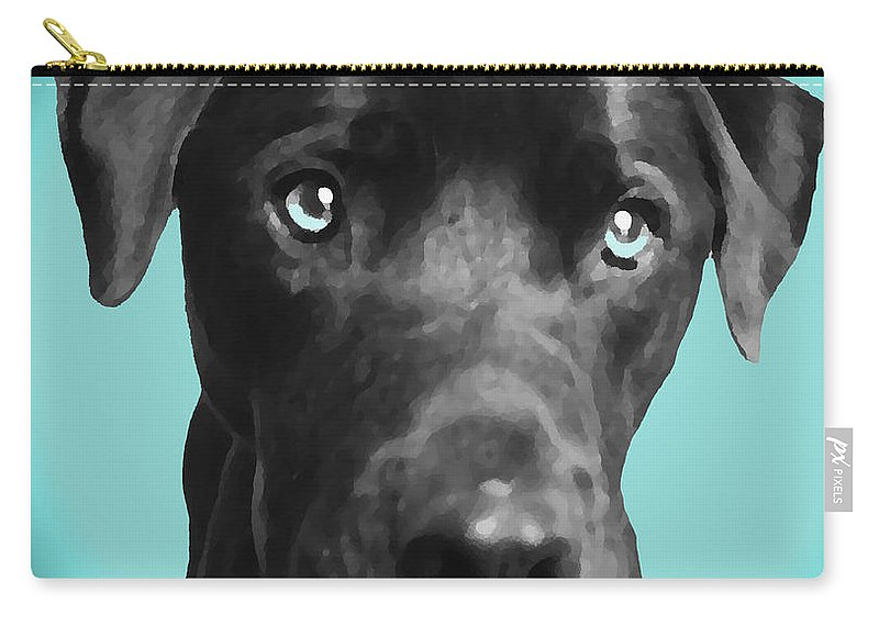 dog Art Carry-all Pouch featuring the photograph Blue by Amanda Barcon