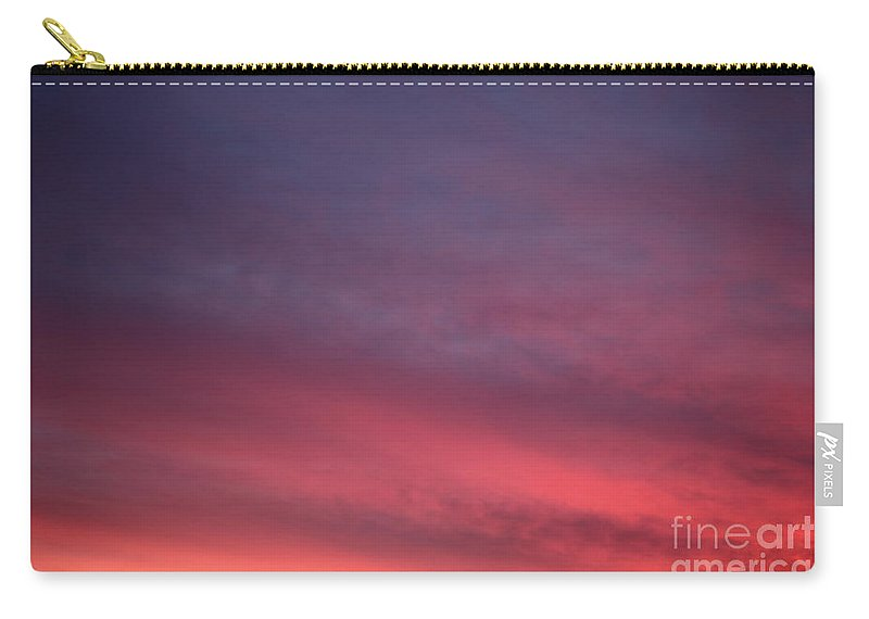 Sunset Carry-all Pouch featuring the photograph Blue And Orange Sunset by Nadine Rippelmeyer