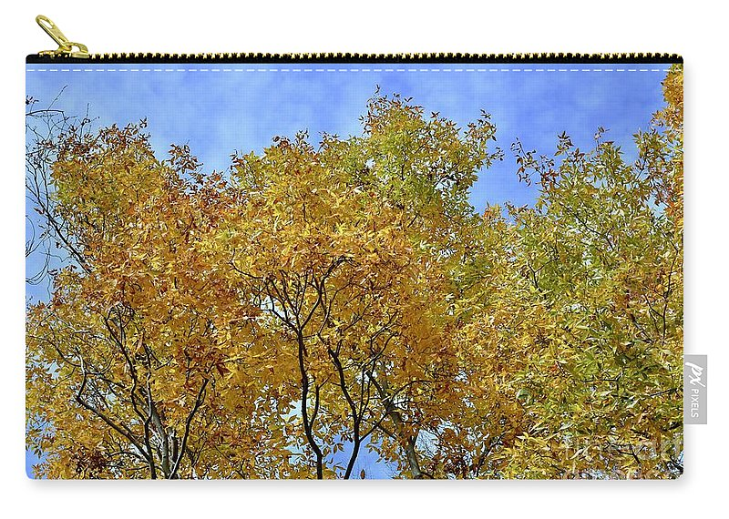 Autumn Carry-all Pouch featuring the photograph Blue Autumn Sky by Jeramey Lende