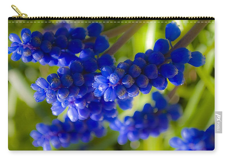 Flower Carry-all Pouch featuring the photograph Blue Bell by Svetlana Sewell