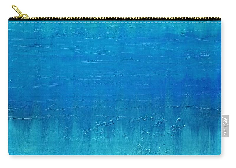 Blue Carry-all Pouch featuring the painting Blue Blue, Bleu by Ishwar Malleret