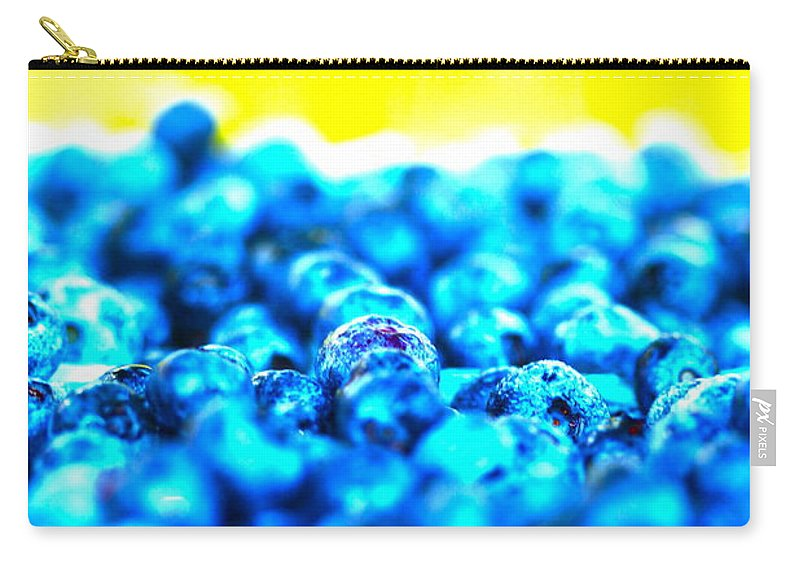 Blue Carry-all Pouch featuring the photograph Blue Blur by Nadine Rippelmeyer