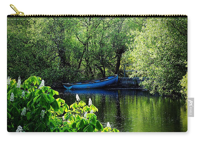 Irish Carry-all Pouch featuring the photograph Blue Boat Cong Ireland by Teresa Mucha