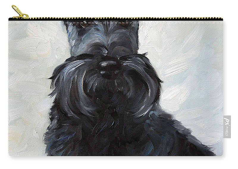 Art Carry-all Pouch featuring the painting Blue Boy by Mary Sparrow