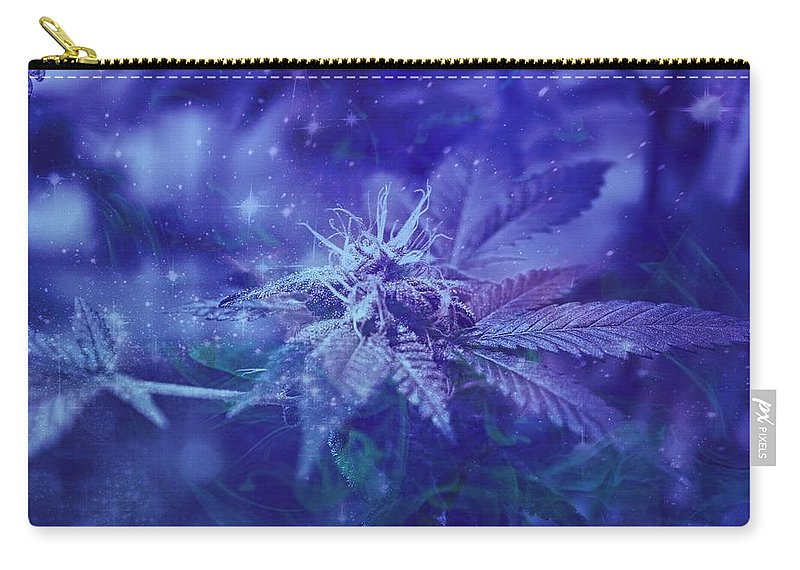 Cannabis Carry-all Pouch featuring the photograph Blue Buds by Erin Hayes