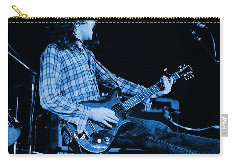 Rock Musicians Carry-all Pouch featuring the photograph Blue Bullfrog Blues by Ben Upham