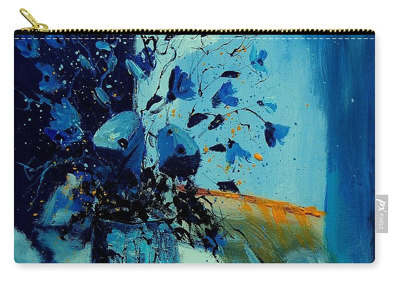 Flowers Carry-all Pouch featuring the painting Blue Bunch 45 by Pol Ledent