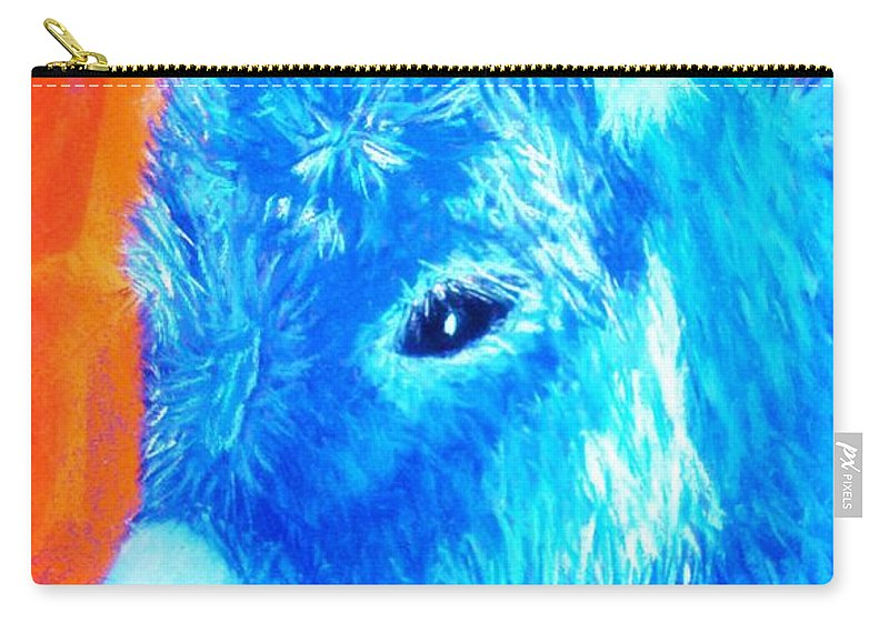 Burro Carry-all Pouch featuring the painting Blue Burrito by Melinda Etzold