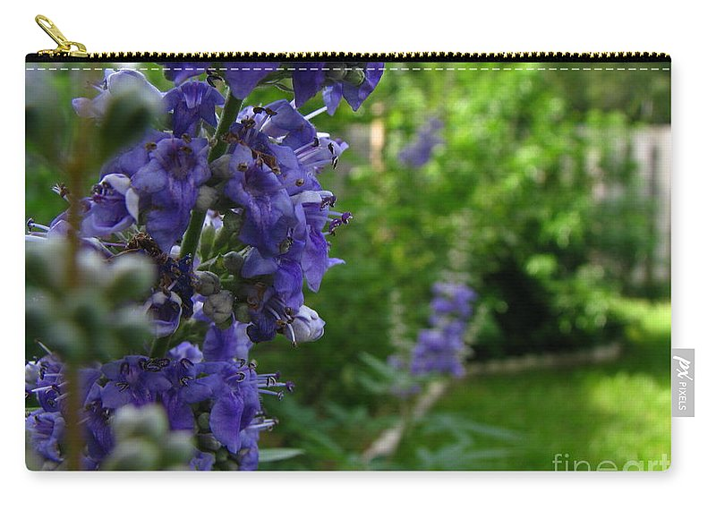 Art For The Wall...patzer Photography Carry-all Pouch featuring the photograph Blue Butterfly by Greg Patzer