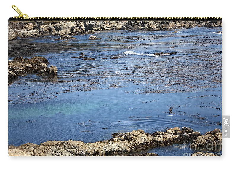 California Carry-all Pouch featuring the photograph Blue California Bay by Carol Groenen